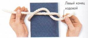 Морские узлы. Рифовый узел. Техника завязывания